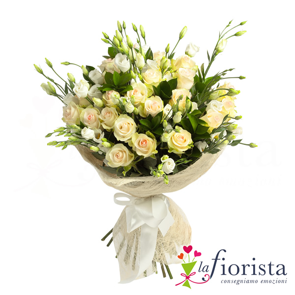 Bouquet di rose bianche