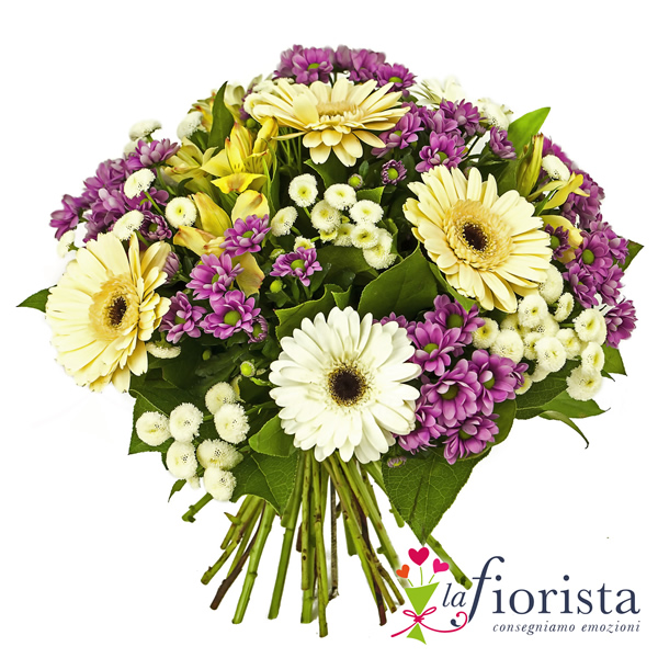 Superb Bouquet Bianco E Glicine