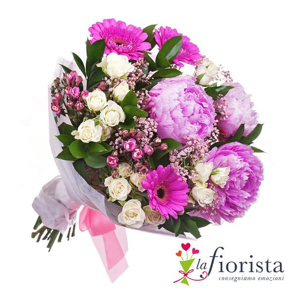 Eccezionale Vendita Bouquet di Fiori Rosa. Consegna fiori a domicilio gratis JT27