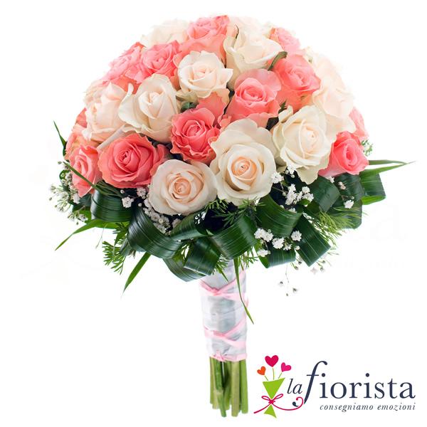 Super Vendita Bouquet di Rose Rosa Chiaro e Scuro. Consegna fiori a  YY58