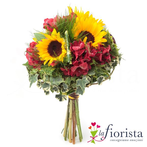 Matrimonio In Grecia : Vendita bouquet girasoli e alstroemeria consegna fiori a