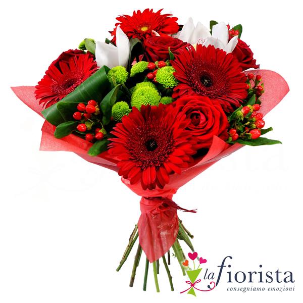 Vendita Bouquet Rosso. Consegna fiori a domicilio gratis