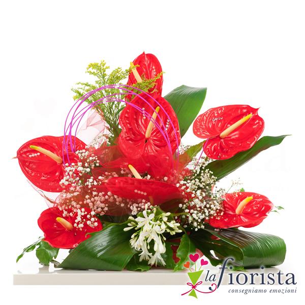 Favorito Vendita Composizione Funebre di Anthurium Rossi. Consegna fiori a  UK16