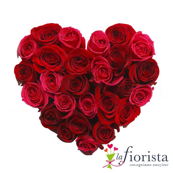 Vendita cuore di rose rosse consegna fiori a domicilio gratis - Immagini di fiori tedeschi ...