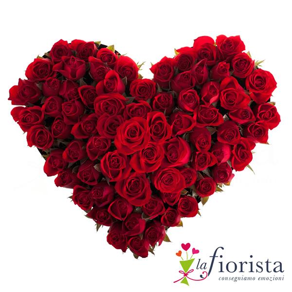 Souvent Vendita Cuore di Rose Rosse. Consegna fiori a domicilio gratis PV31
