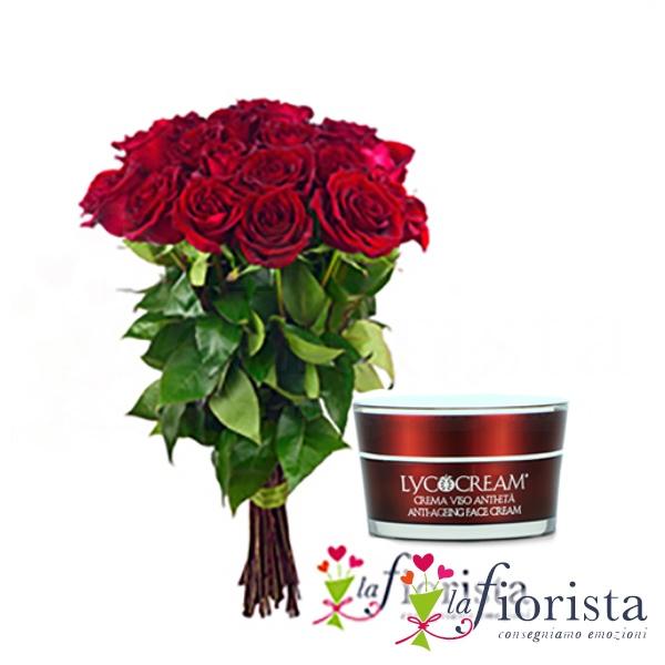 Rose rosse - crema viso - acquista on line - consegna gratuita