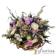 Bouquet misto di fiori stabilizzati