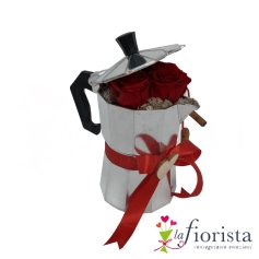 Caffettiera di rose