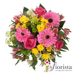 Bouquet rosa e giallo