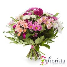 Bouquet con margherite e alstroemerie