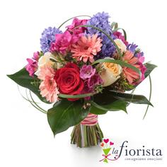 Bouquet di fiori misti rosa glicine