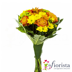 Bouquet giallo arancio