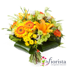 Bouquet solare di fiori arancio