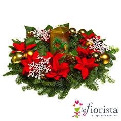 Centrotavola natalizio dorato