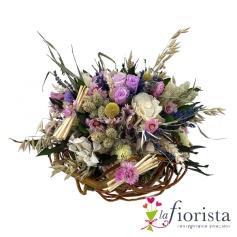 Bouquet misto di fiori stabilizzati