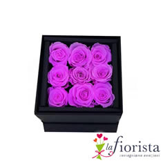 Flower box 9 Rose lilla